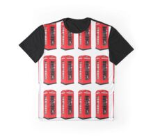 Montage of Red London Telephone Boxes Graphic T-Shirt