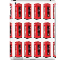Montage of Red London Telephone Boxes iPad Case/Skin