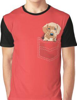 Daschund in a pocket Graphic T-Shirt