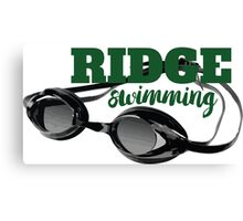 Ridge Swimming Goggles Canvas Print