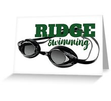 Ridge Swimming Goggles Greeting Card