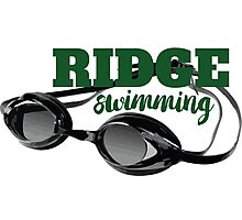 Ridge Swimming Goggles Photographic Print