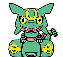 Rayquaza chibi kawaii by Vixen-Dawg