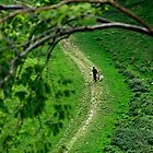 A Young Couple Walking In Cave Dale by Rod Johnson