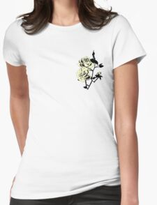 Pastel Yellow Roses Womens Fitted T-Shirt