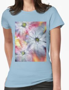 FLOWERS WATERCOLOUR Womens Fitted T-Shirt