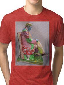 """Lenin or Lenon""- Original painting sculpture Tri-blend T-Shirt"
