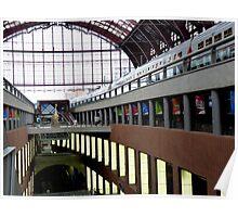 Antwerp, Belgium - the new railway station Poster