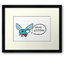 Angry Navi Hey Listen!! (Zelda) Framed Print
