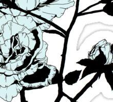 Pastel Blue Roses Sticker