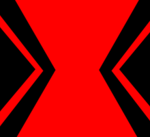 Black Widow Minimalist Sticker