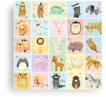German Animal Alphabet Canvas Print
