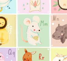 German Animal Alphabet Sticker