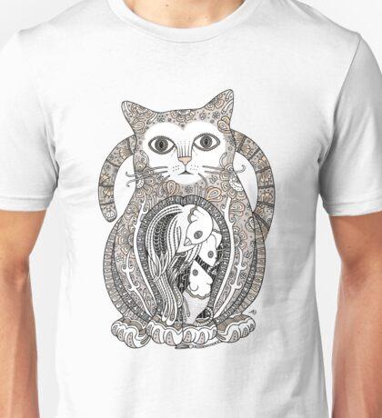 Contented Cat Unisex T-Shirt