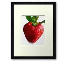 Red Ripe Strawberry Framed Print