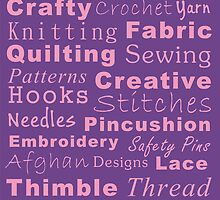 Crafty Text - Purple by Irena Paluch