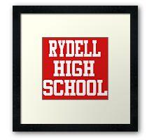 Grease - Rydell High School Framed Print