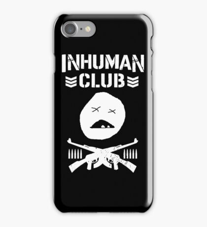 Inhuman Club Black iPhone Case/Skin