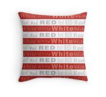 Stripes - Red (dark) Throw Pillow