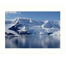 Glaciers in Antarctica Art Print