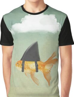 Under a Cloud, Goldfish with a Shark fin Graphic T-Shirt