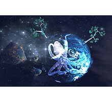 Octopus in Space Photographic Print