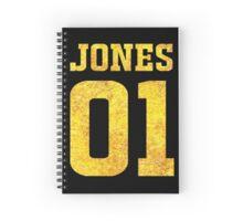 Gold Front Ezekiel Jones 01 Fan Jersey for The Librarians Spiral Notebook
