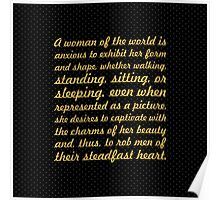 "A woman of the world is... ""Buddha"" Inspirational Quote Poster"