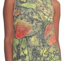 Paint and Ink Poppies Contrast Tank