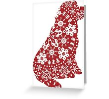Newfoundland Christmas Snowflakes Greeting Card