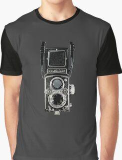 Vintage Rolleiflex Automat MX-EVS Model K4B Twin Lens Film Camera Graphic T-Shirt