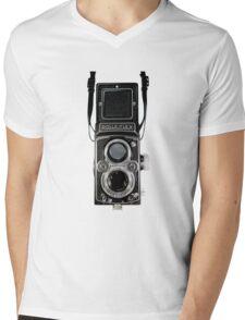 Vintage Rolleiflex Automat MX-EVS Model K4B Twin Lens Film Camera Mens V-Neck T-Shirt