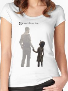 I won't forget this. Women's Fitted Scoop T-Shirt