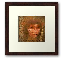 Serene warrior Framed Print