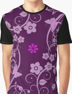 Flowers Pink Graphic T-Shirt