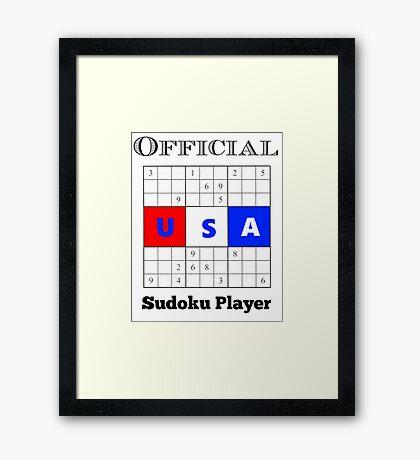Official Sudoku Player Framed Print