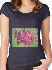 Crabapple Blossoms Women's Fitted Scoop T-Shirt