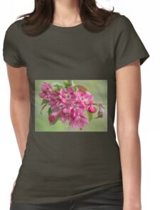 Crabapple Blossoms Womens Fitted T-Shirt