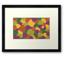 Imaginary Bubbles series - Candy bubbles Framed Print