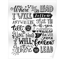 where you lead {gilmore girls} Poster
