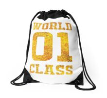 Gold Glitter Version World Class Fan Jersey Design Ezekiel Jones Drawstring Bag
