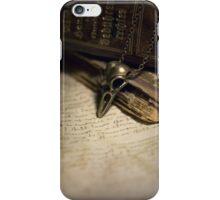 Brass bird skull iPhone Case/Skin