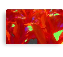 Tropical Red Leaves Canvas Print