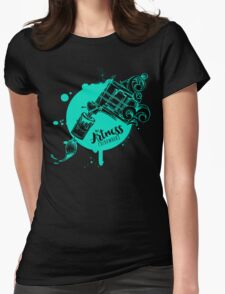 The Artness Colorworks - Art Is Life ( TEAL ) Womens Fitted T-Shirt