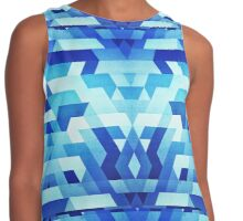 Abstract geometric triangle pattern (futuristic future symmetry) in ice blue Contrast Tank
