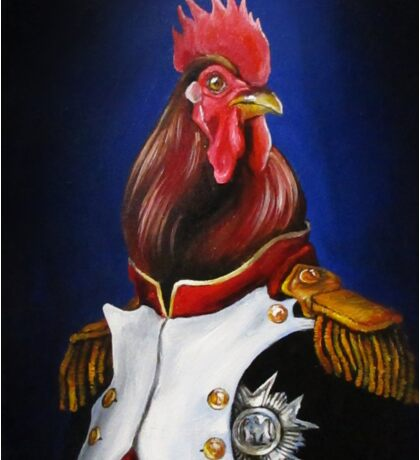 Rooster Napoleon Sticker