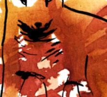 Chilote fox Sticker