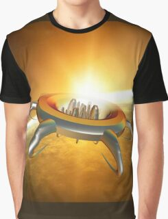 Alien City in space Graphic T-Shirt
