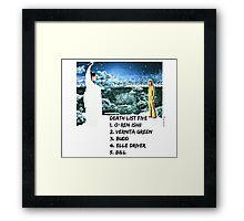 Kill Bill Death List 5 Framed Print