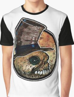 Skull in a top hat Graphic T-Shirt